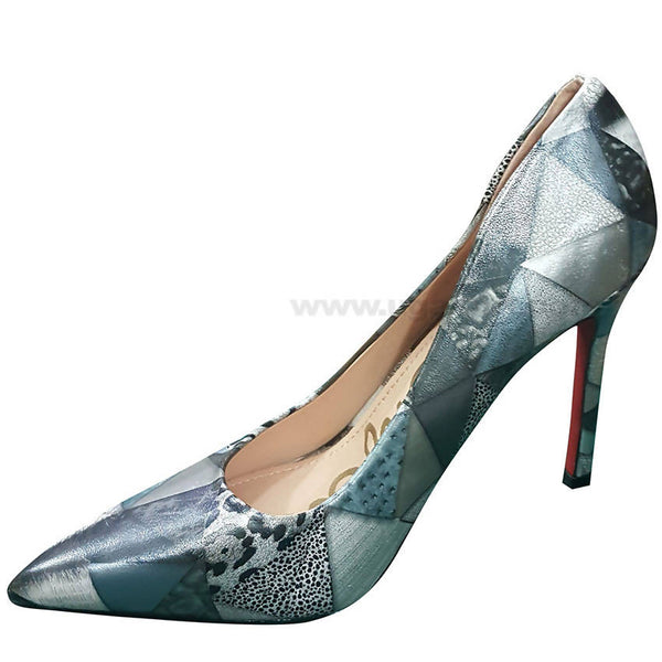 Grey Designed High Heel Shoe For Women