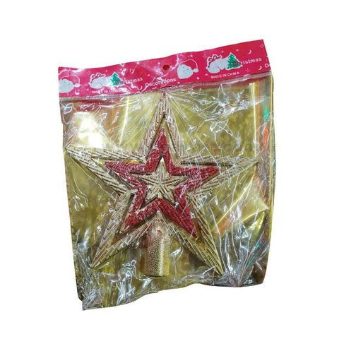 Decoration Christmas Star-Golden & Red