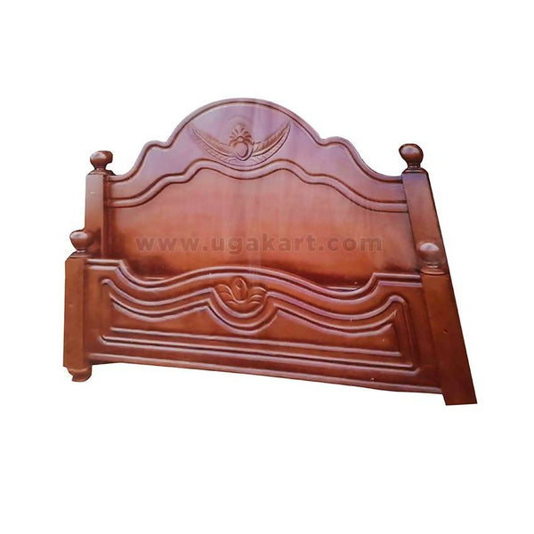 Brown Traditional Wooden Double Bed