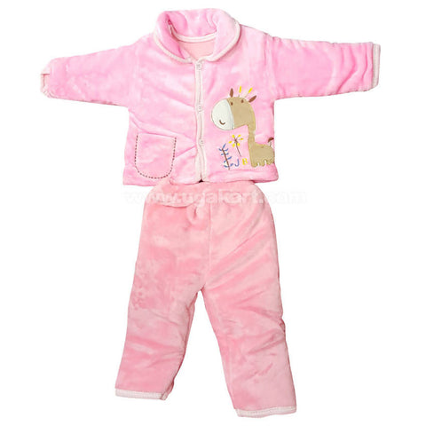 Light Pink Color Night Dress For Kids 0 to 6 months