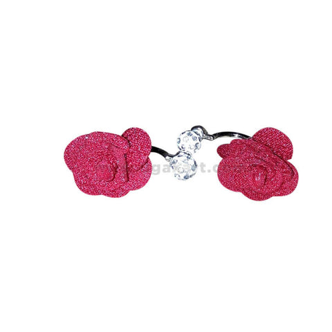 Artificial Red Rose Earring