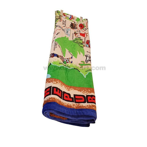Towel With Cartoons Desing_Green
