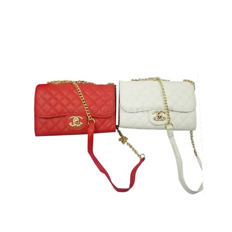 2 PC Chained Cross bags for Ladies - Red and White