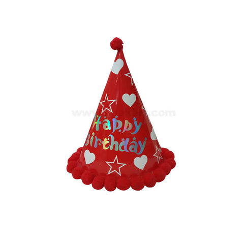 Happy Birthday Red Cap-20cm (3dzn)