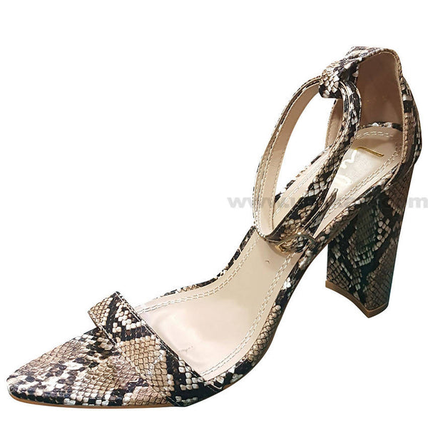 Brown Ivory Designed High Heels Sandal For Women