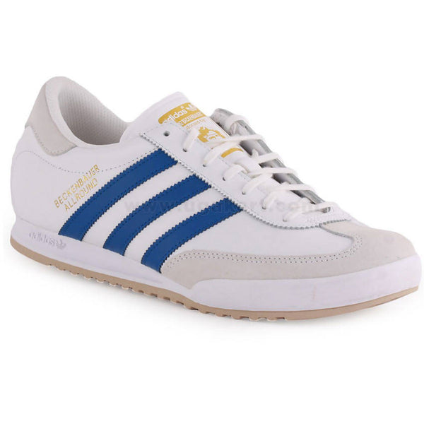 Adidas White And Blue Mens Shoes