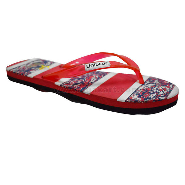 UniStar Red Flip Flop Sandal For Women's