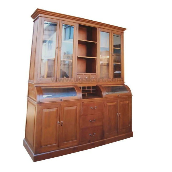 Wooden Cabinet Side Board With Glass Doors