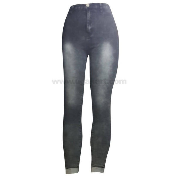 Black and White Shade Jean with Elastic Bottom