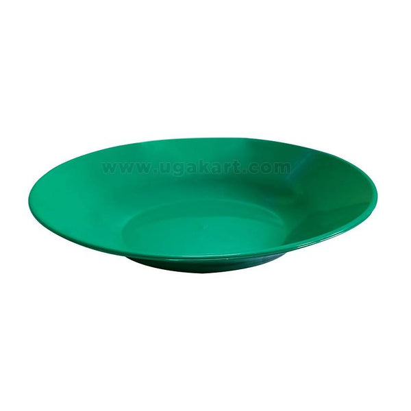 Green - Rounded Plastic Plate
