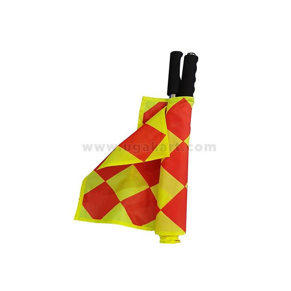 Yellow & Red Referee's Flag