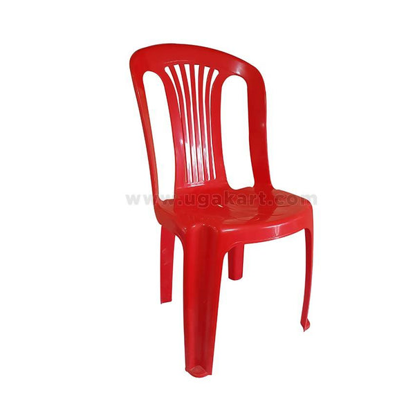 Kenpoly Plastic Chair Without Arms - Red