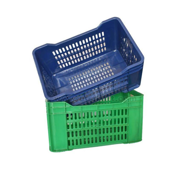 Plastic Multi-Purpose Utility Crate-Special - Blue & Green