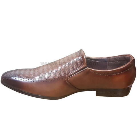 Men's Brown Leather Breathable Slip On Gentle Shoes