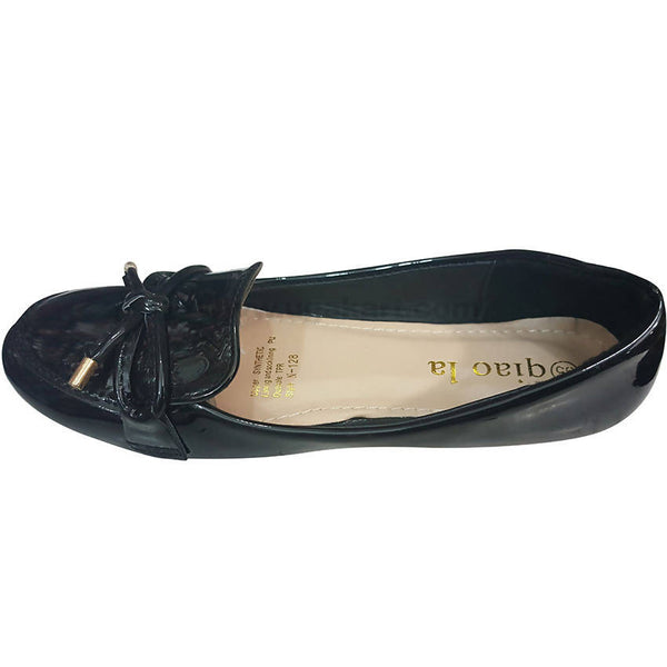 Black Ballet Flats For Girls(Size-31 to 35)