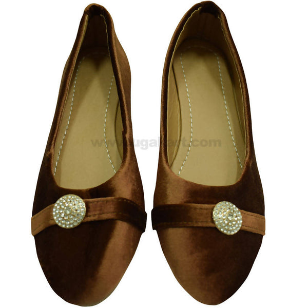 Brown Ballet Flat Shoe For Women