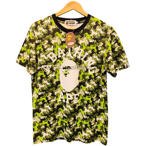 A Bathing Ape Green Designer T-Shirt