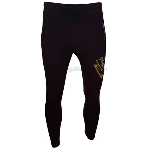Maroon With Golden Design Men's Sweater Track Pant