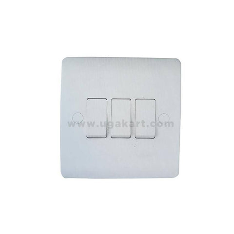 SEF-5004 - 3 Gang 2 Way Light Plastic Switch - White