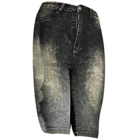 Black Faded Women's Jean Shorts
