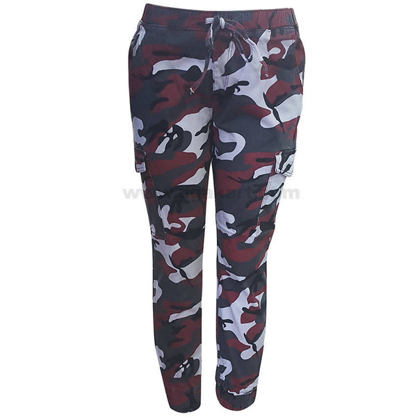 Army Print Dori Style Fit Zipper Cargo Pants For Women