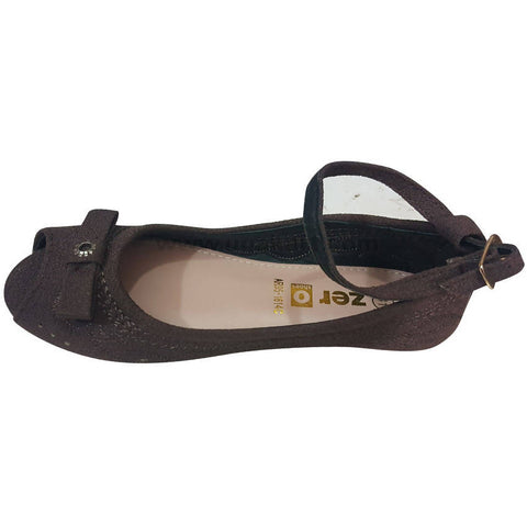 Padma Ballet Flat - Black Reale Velvet Wedge Heels for Girls(Size-26 to 30)