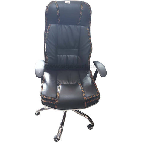 Leather Cusion Chair Rolling Chair For Office