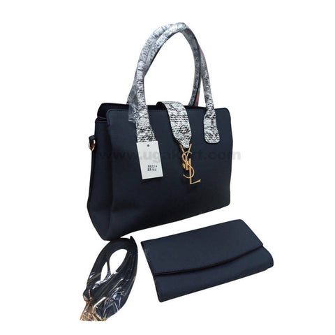 YSL Set of Two Dark Blue Women'S Hand Bag