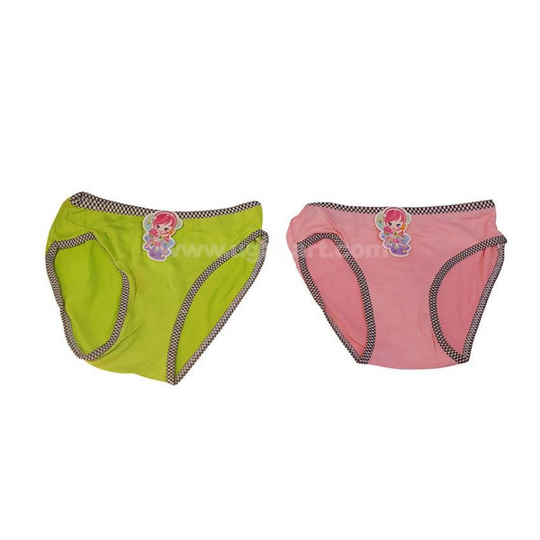 Underware/Panties For Girls_Green & Pink-6Pc_2Yrs To 15Yrs