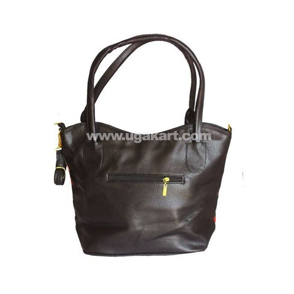 Mk Fashion Leather Handbag - Black