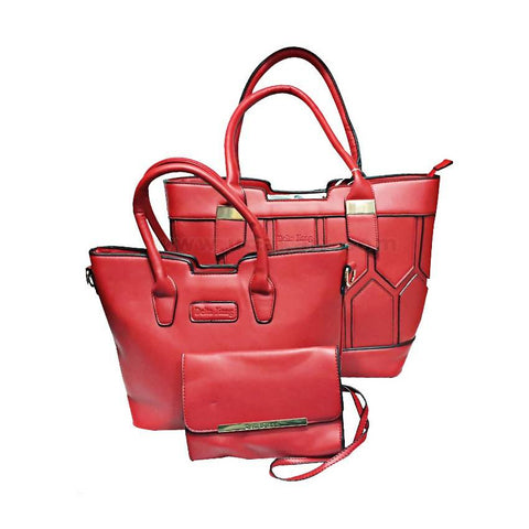 3-In-1 Delta Jiang Handbag - Red