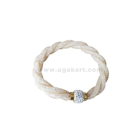 Shiner Bracelet With Magnet -Cream
