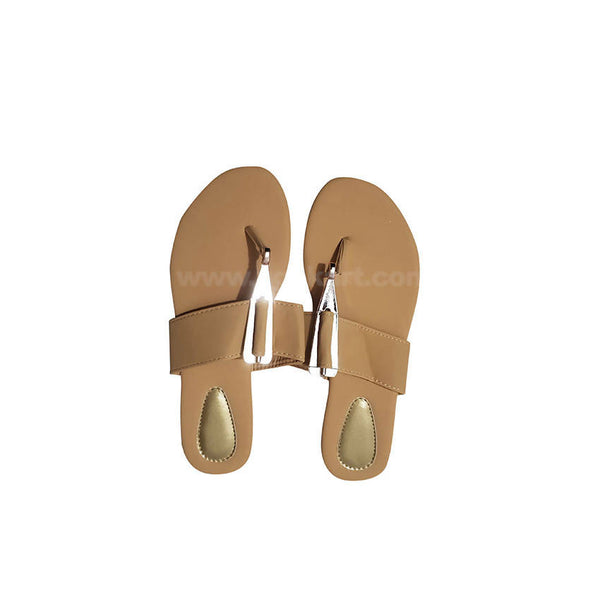 Womens Sandal Cream and Golden