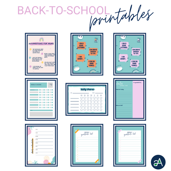 Back to School Affirmation Printables and more - digital download