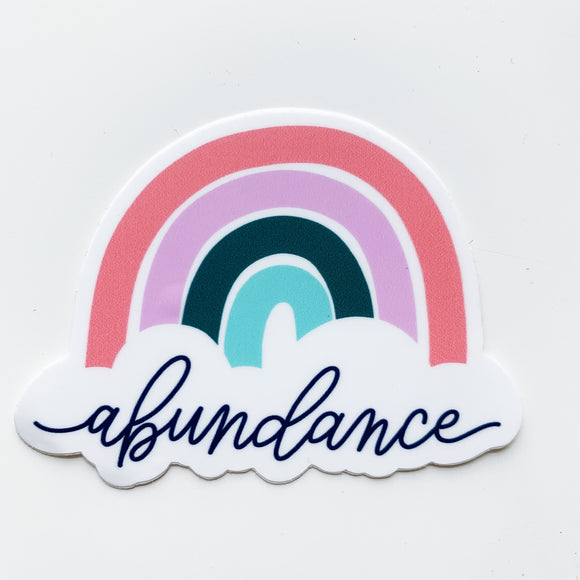 Abundance rainbow sticker
