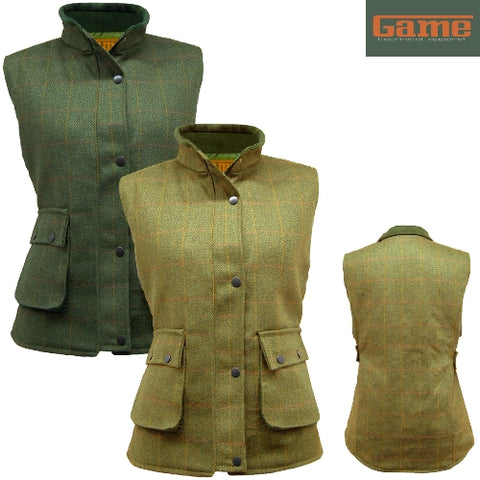 Ladies Game Tweed Gilet