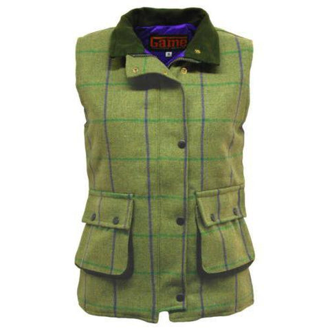 Game Abby Tweed Gilet from Front