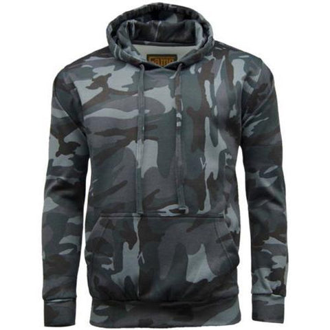 Game Mens Camouflage Hoodie Midnight
