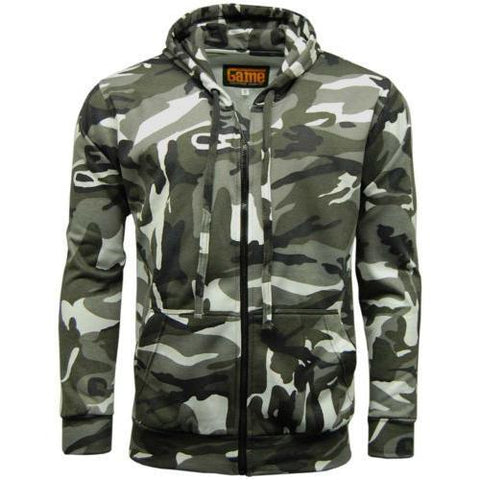 Game Mens Camouflage Zipper Urban
