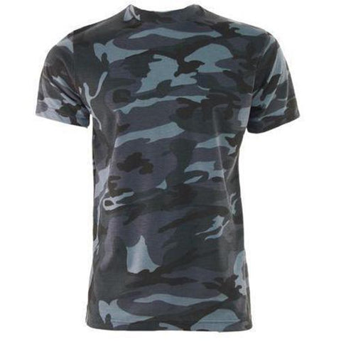 Game Mens Camouflage Tshirt in Midnight