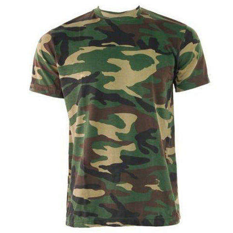 Game Mens Camouflage Tshirt in Woodland