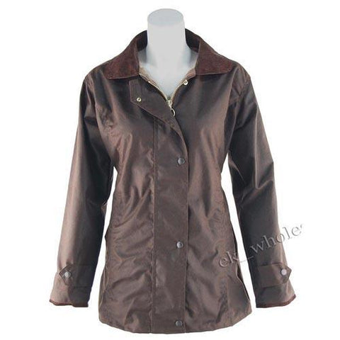 Game Ladies Antique Wax Jacket Brown