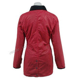Game Ladies Antique Wax Jacket Red Back