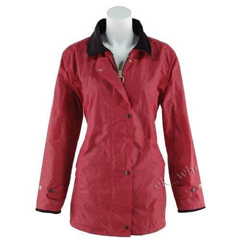 Game Ladies Antique Wax Jacket Red