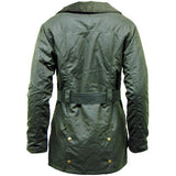 Game Ladies Cantrel Antique Waxed Jacket Olive Back