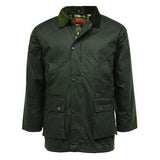 Game Mens British Padded Wax Jacket Olive