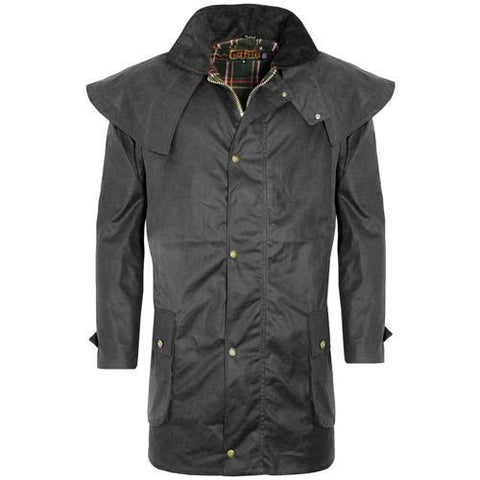 Game Mens Kensington Wax Jacket Black