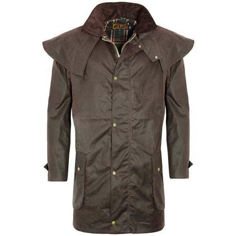 Game Mens Kensington Wax Jacket Brown
