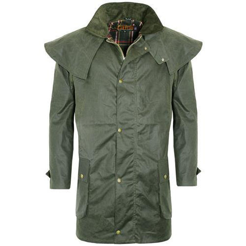 Game Mens Kensington Wax Jacket Olive