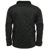 Game Oxford Quilted Wax Jacket Black Back